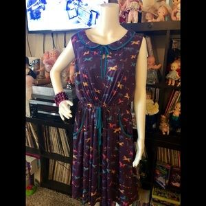 Lindy bop Purple Pony dress